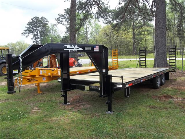 New B&A 25 ft 14K Flatbed GooseNeck Trailers
