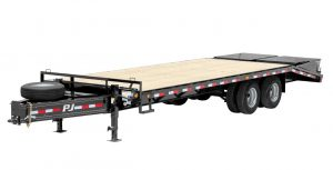 New PJ PD252 25 ft 25K Flatbed Classic Pintle with Duals Trailer